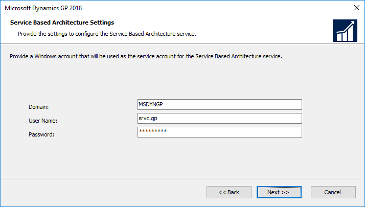 Microsoft Dynamics GP 2018: Service Based Architecture Settings