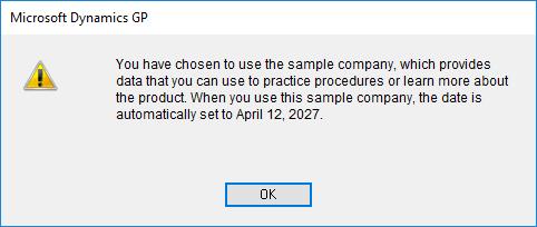 Sample company warning dialog