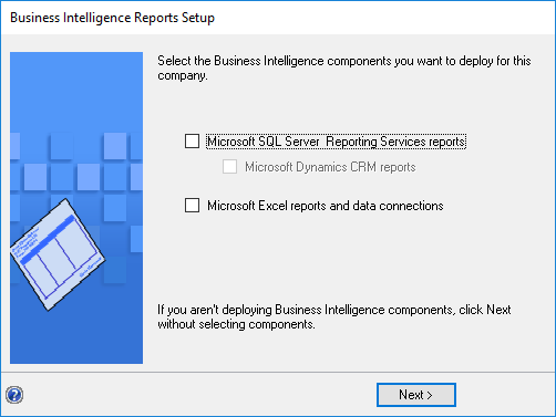 Business Intelligence Reports Setup