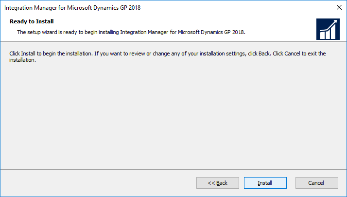 Integration Manager for Microsoft Dynamics GP 2018: Ready to Install