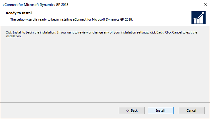eConnect for Microsoft Dynamics GP 2018: Ready to Install