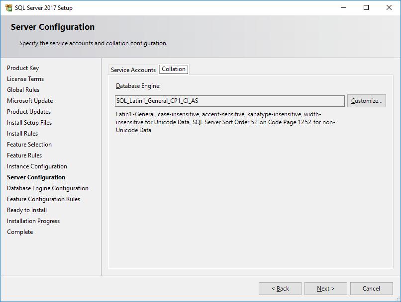 SQL Server 2017 Setup -