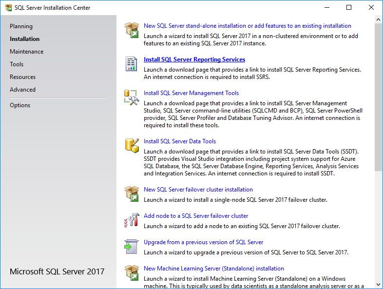 SQL Server Installation Center - Installation