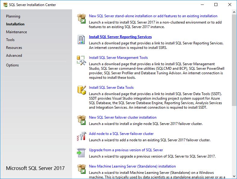 SQL Server Installation Center - Installation