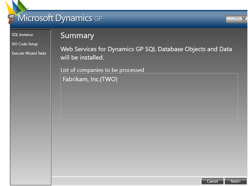 Microsoft Dynamics GP: Summary