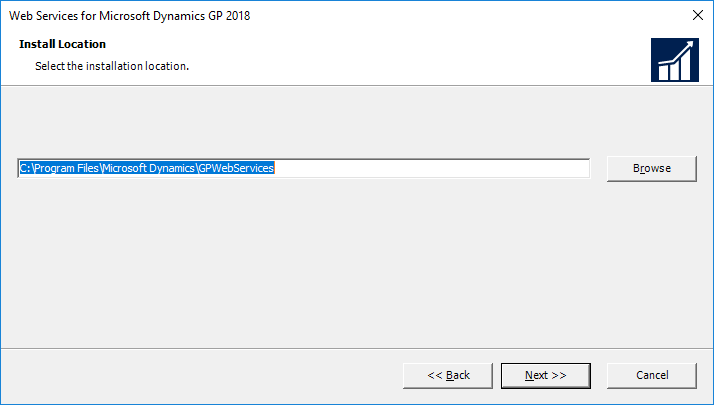 Web Services for Microsoft Dynamics GP 2018: Install Location