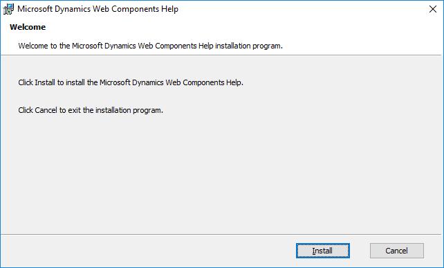 Microsoft Dynamics Web Components Help