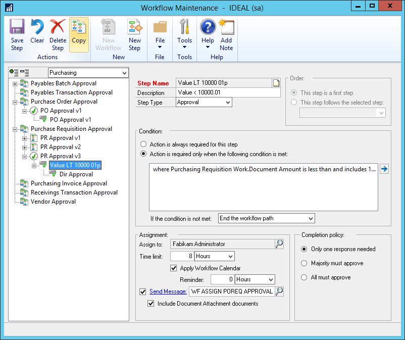Workflow Maintenance - Copy button