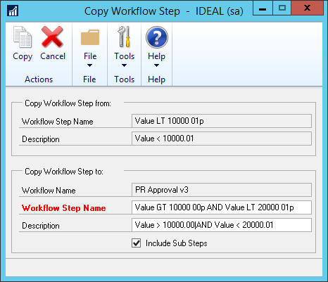 Copy Workflow Step