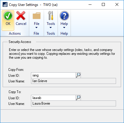 Copy User Settings