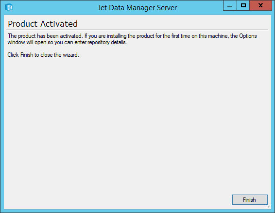 Jet Data Manager Server Setup: