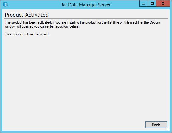 Jet Data Manager Server Setup: