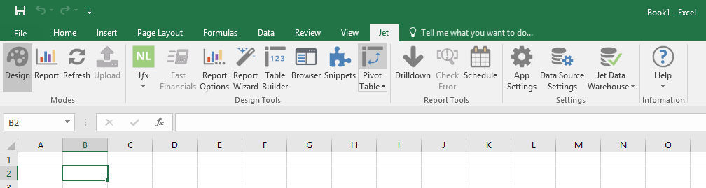 Microsoft Excel - Jet Pivot Table