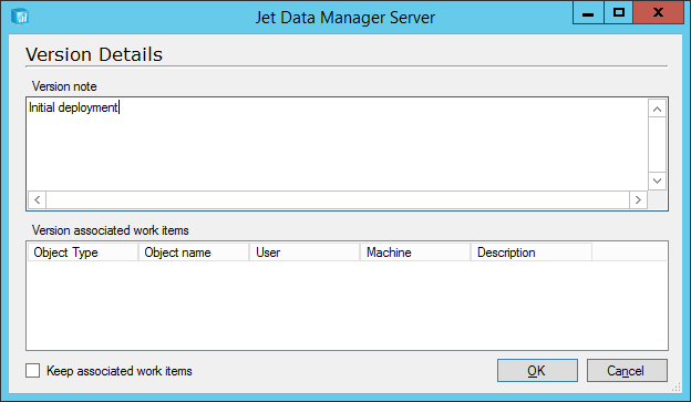 Jet Data Manager Server: Version Details