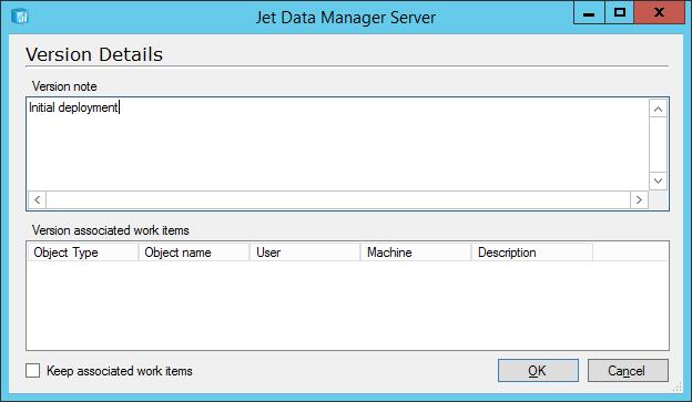 Jet Data Manager Server: Version Details