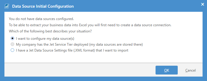 Data Source Initial Configuration