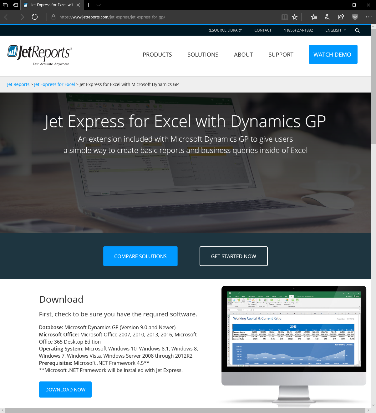Jet Express for Excel with Dynamics GP download