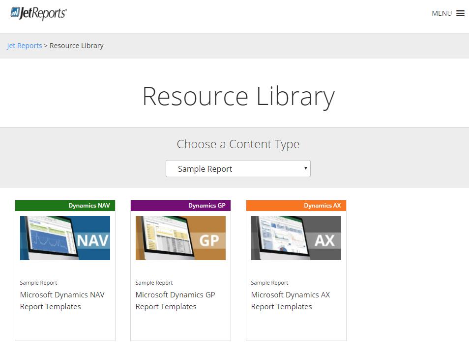 Download Microsoft Dynamics GP Report Templates