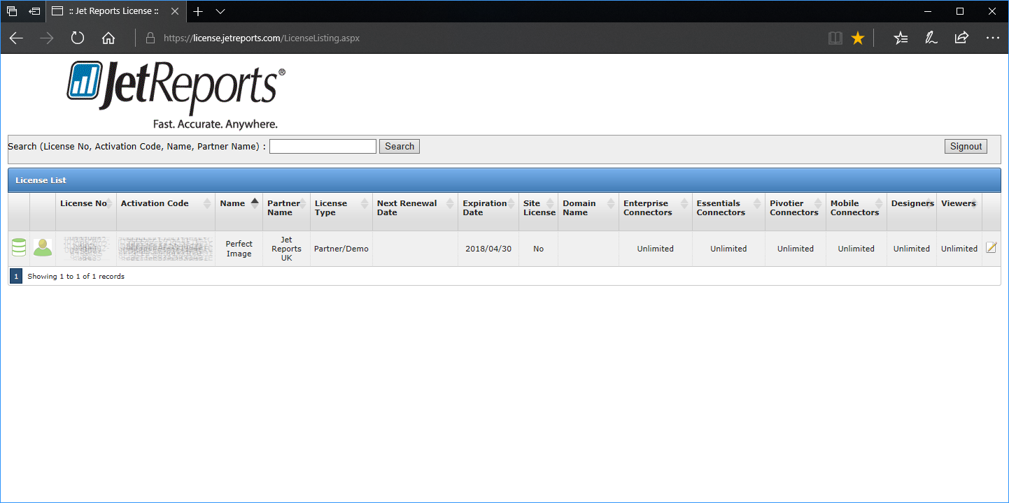 Licensing Portal