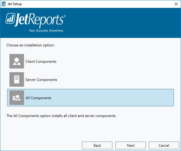 Jet Setup - Installation Options