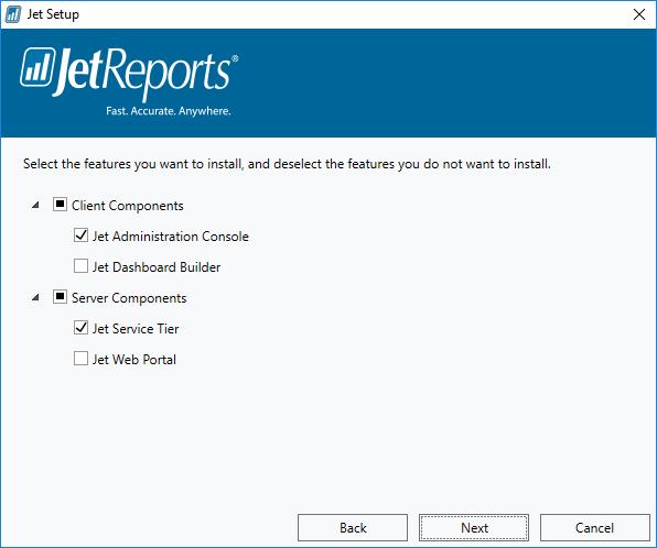 Jet Setup - Features