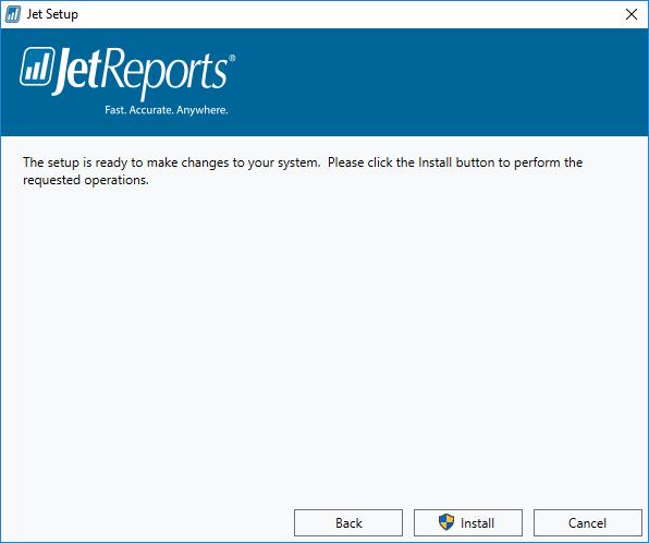 Jet Setup - Installation Ready