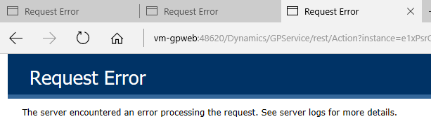 Request error