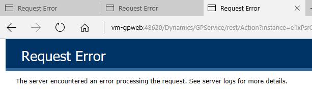 Request error