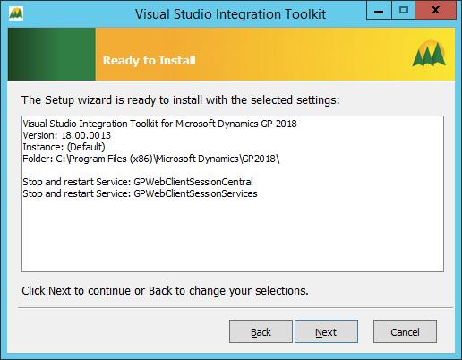 Visual Studio Integration Tookit - Ready to Install