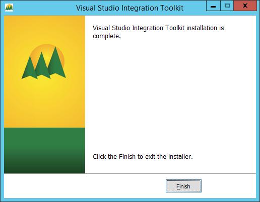 Visual Studio Integration Tookit - Visual Studio Integrating Toolkit installation is complete