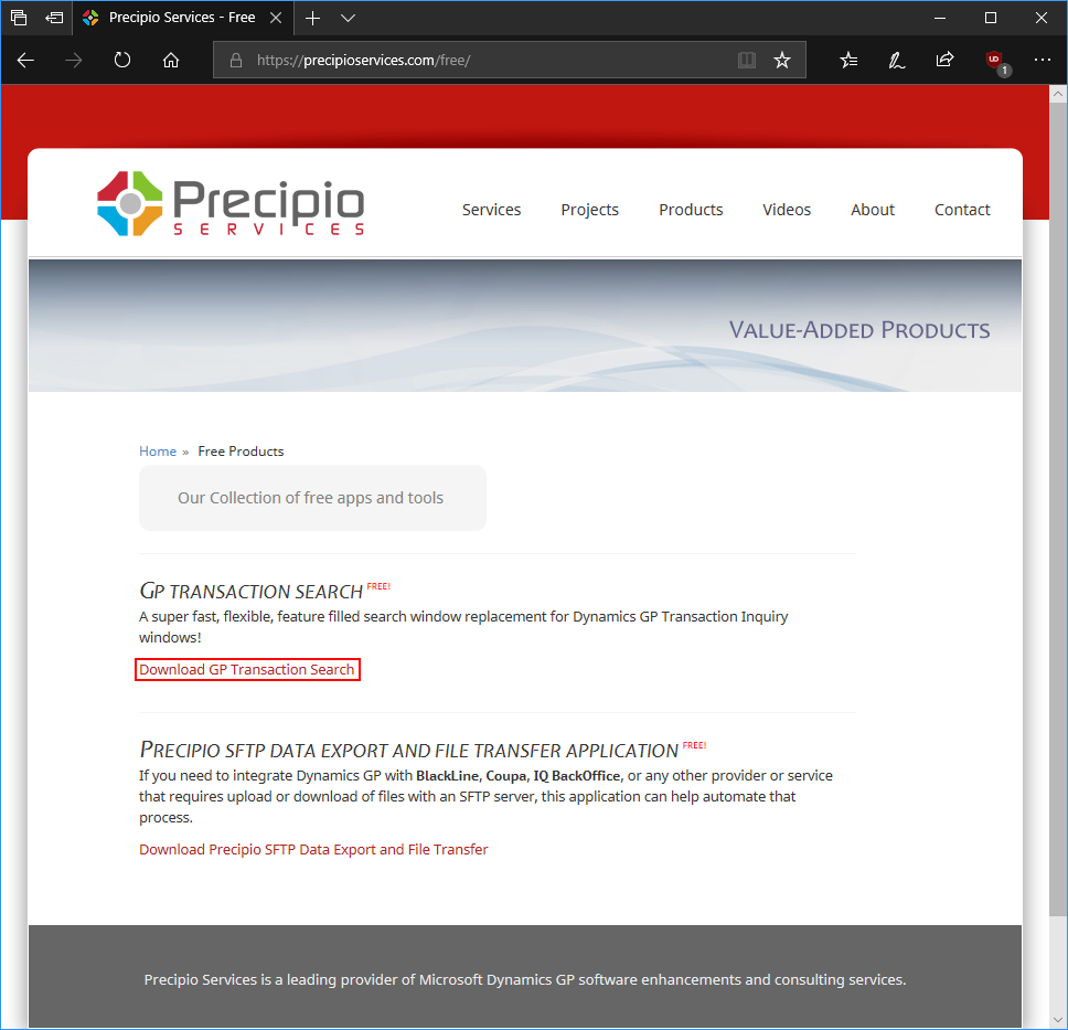 Precipio Services