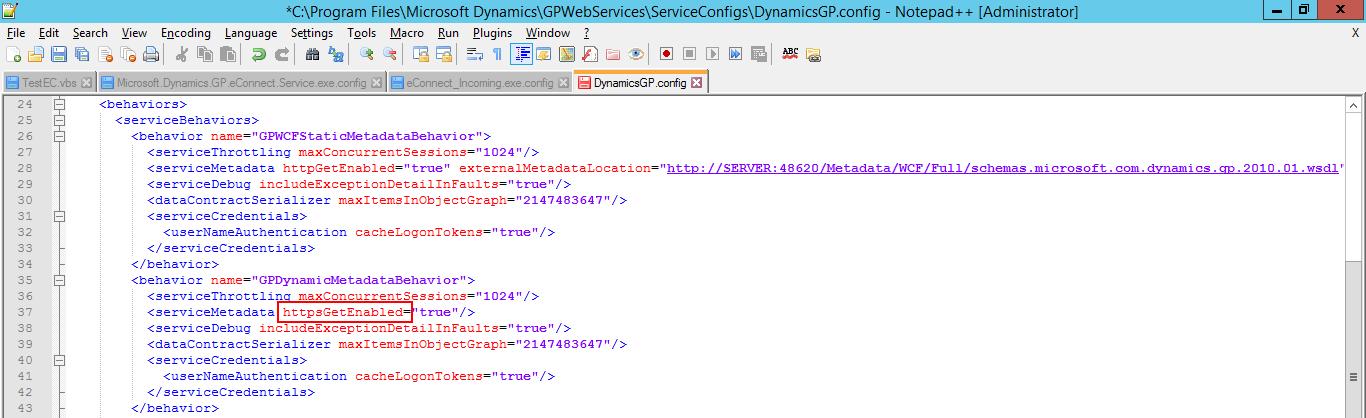 DynamicsGP.config
