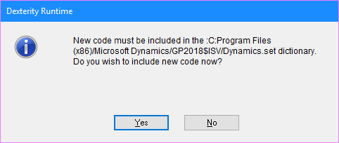Include new code?