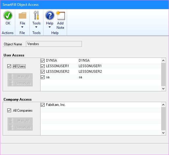 SmartFill Object Access