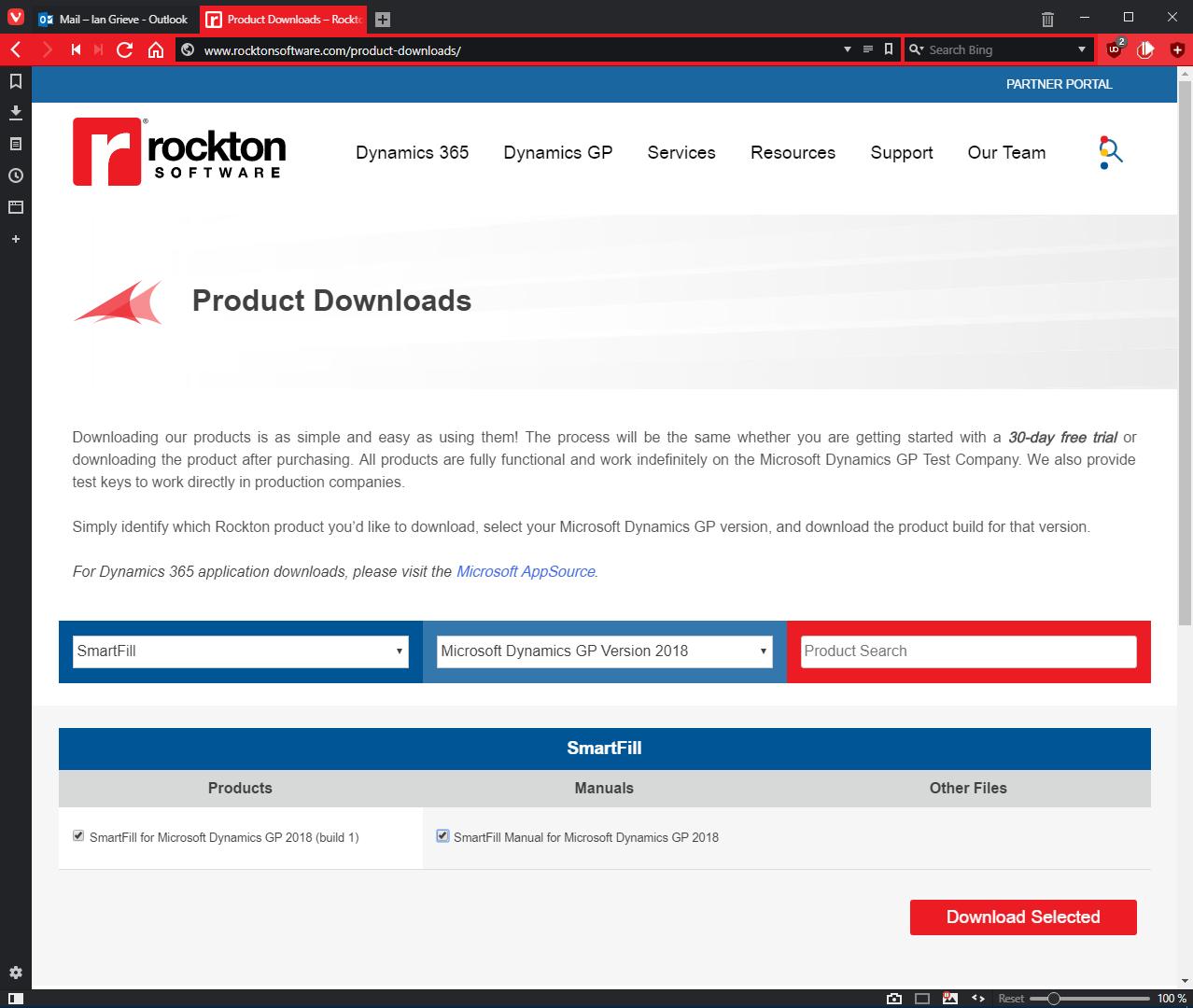 Rockton Software downloads page
