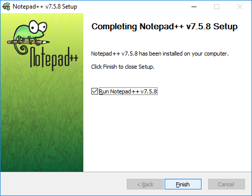 Completing Notepad++ Setup