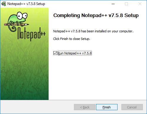 Completing Notepad++ Setup