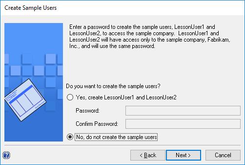 Create Sample Users