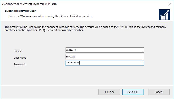 eConnect Server User