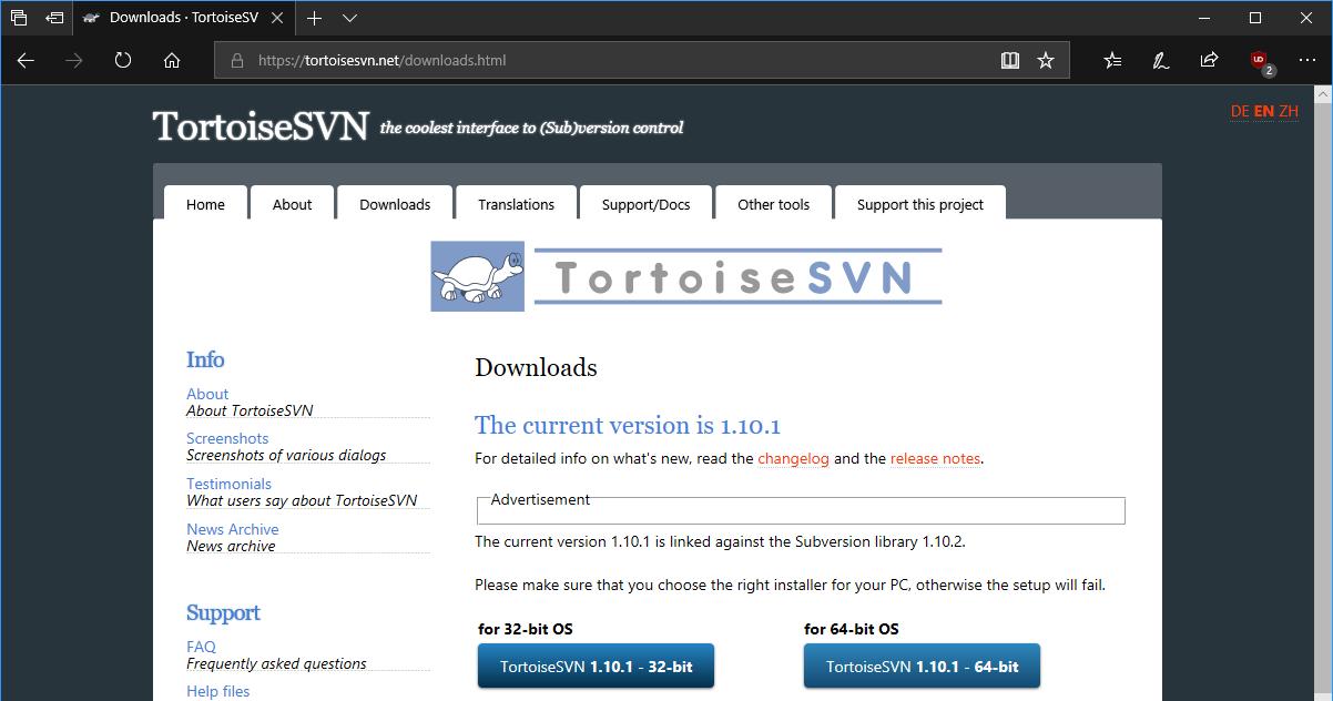 TortoiseSVN website