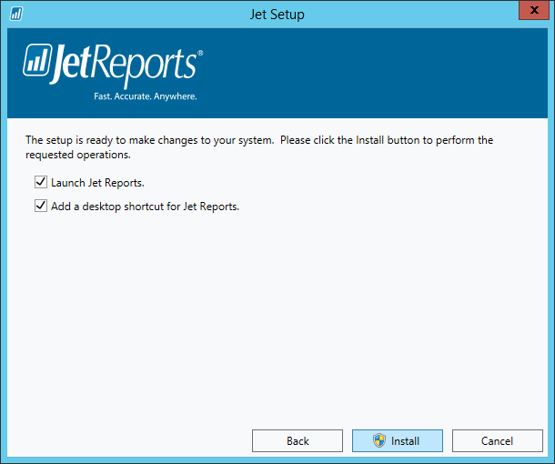 Jet Setup - Ready to make changes