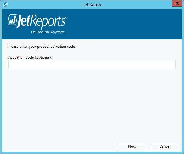 Jet Setup - Activation