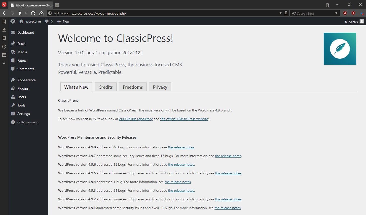 Welcome to ClassicPress!