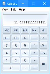 Calculator replacement running