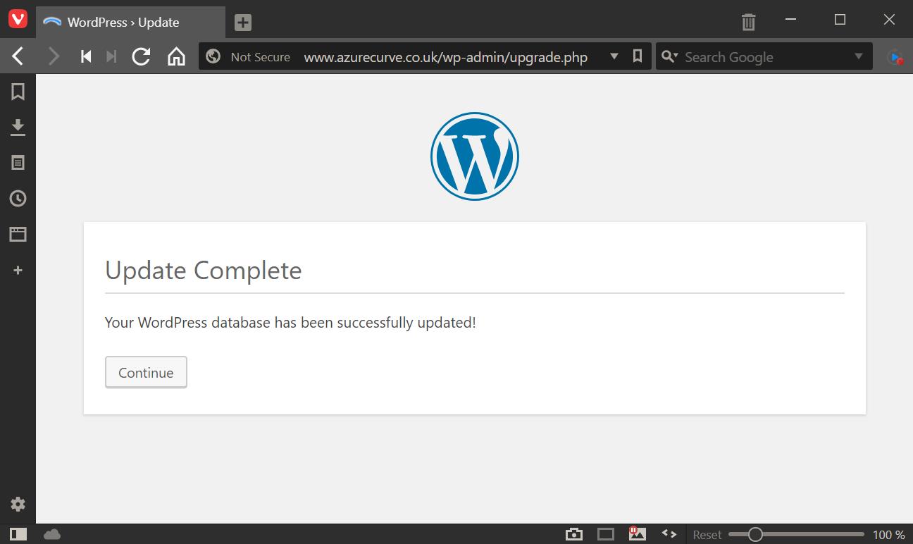 Database update finished