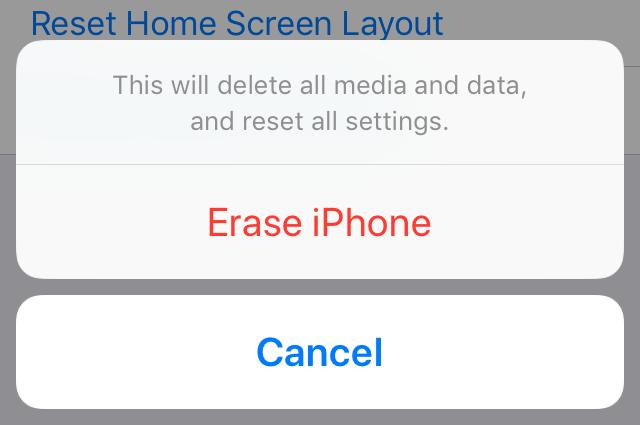 Erase iPhone