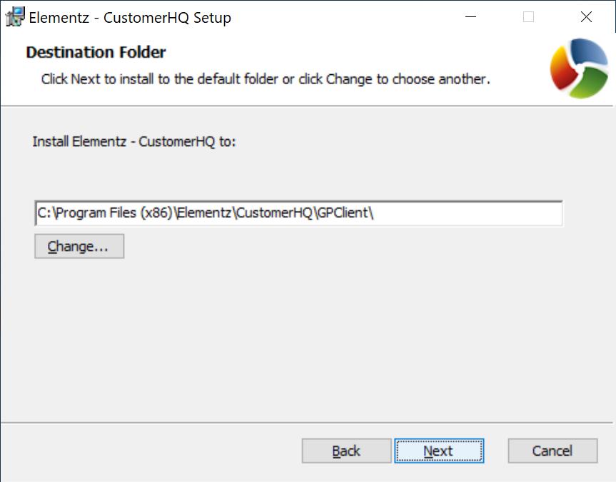 Destination folder of client components