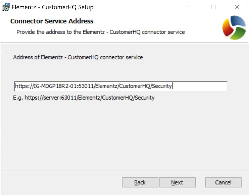 Connector Service Address