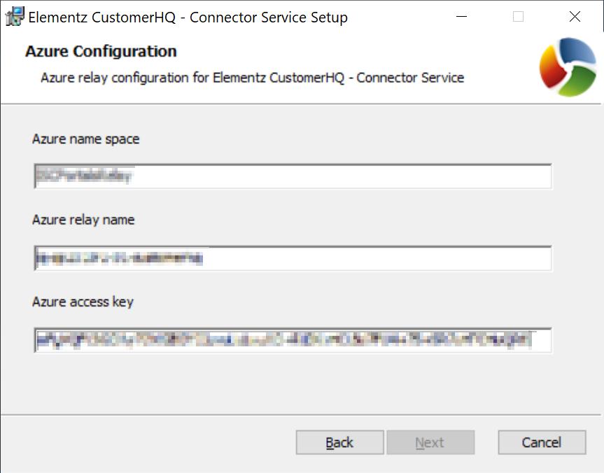 Azure Configuration information