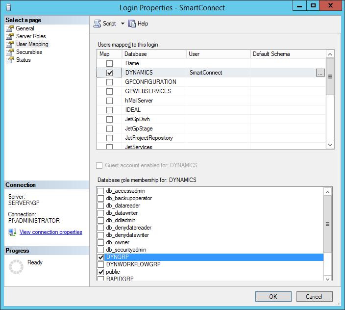 SQL Login Properties